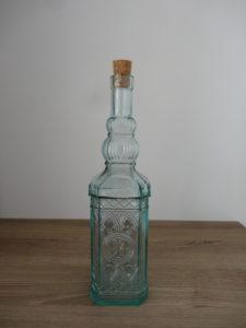 Bouteille carafe verre biseauté transparente - Ma déco aux petits oignons