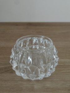 Photophore diamant transparent - Ma déco aux petits oignons