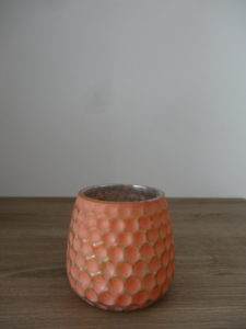 Photophore orange corail bulles - Ma déco aux petits oignons