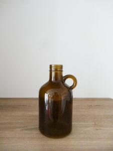 Vase bouteille à anse marron - Ma déco aux petits oignons