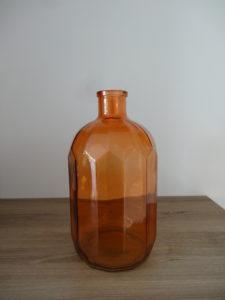 Vase bouteille orange - Ma déco aux petits oignons
