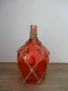 Vase bouteille orange et corde - Ma déco aux petits oignons