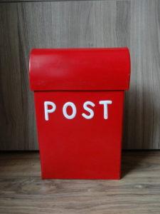 Boîte aux lettre urne rouge - Ma déco aux petits oignons