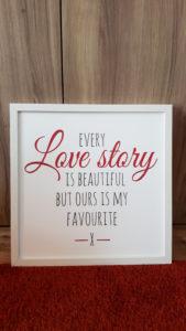 Cadre every story rouge et blanc - Ma déco aux petits oignons