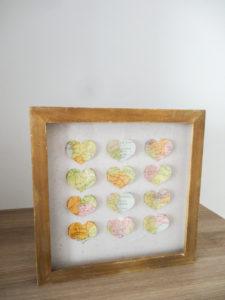 Cadre vitrine coeurs - Ma déco aux petits oignons