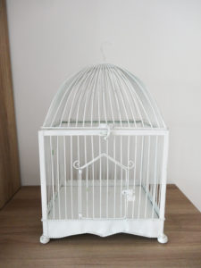 Cage métal blanc - Ma déco aux petits oignons