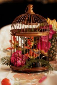 Cage métal cuivré ronde - Ma déco aux petits oignons