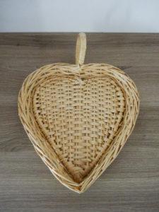 Panier forme coeur - Ma déco aux petits oignons