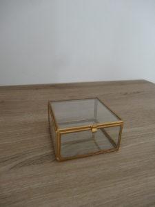 Petite boîte verre et métal doré - Ma déco aux petits oignons