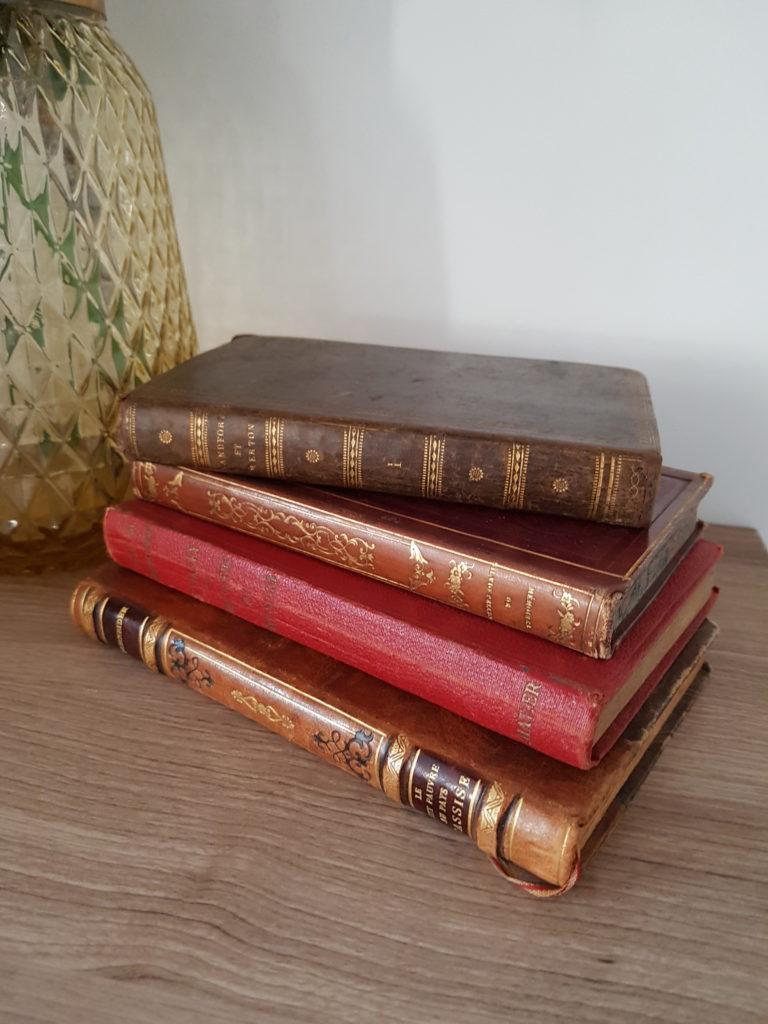 Livres vintage - Ma déco aux petits oignons