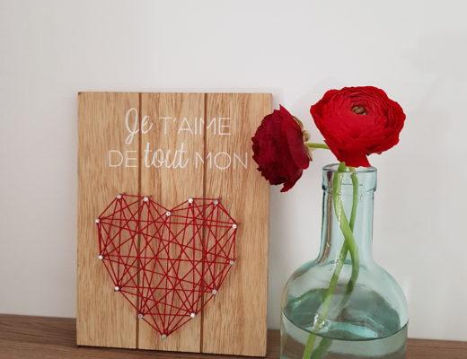 Pancarte Je t'aime de tout mon amour - Ma déco aux petits oignons