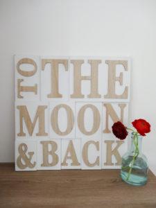 Pancarte To the moon & back - Ma déco aux petits oignons