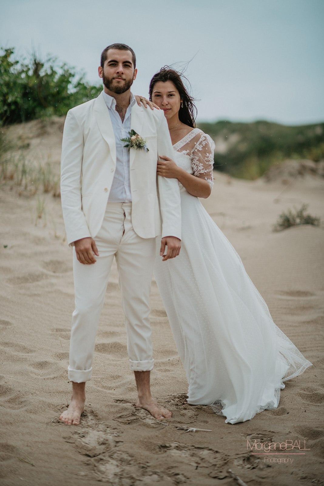 Ma déco aux petits oignons - Shooting d'inspiration tropical - couple et tenues des mariés