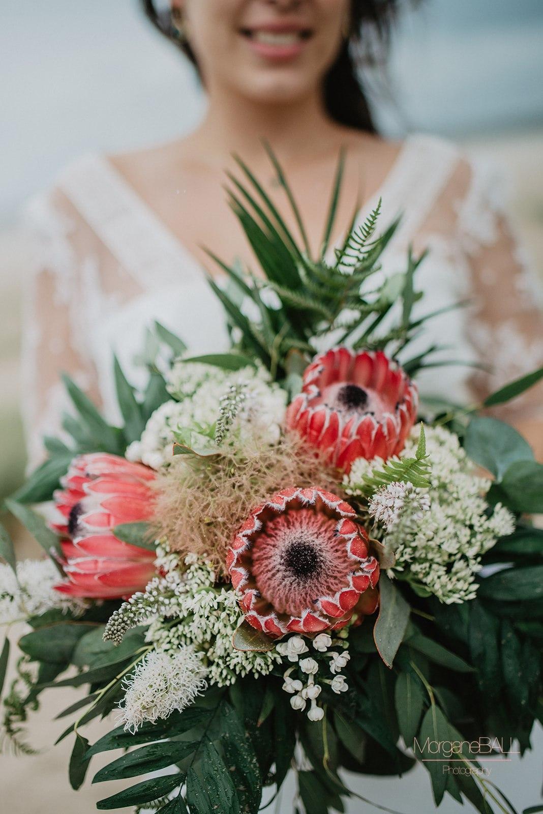 Ma déco aux petits oignons - Shooting d'inspiration tropical - bouquet de la mariée